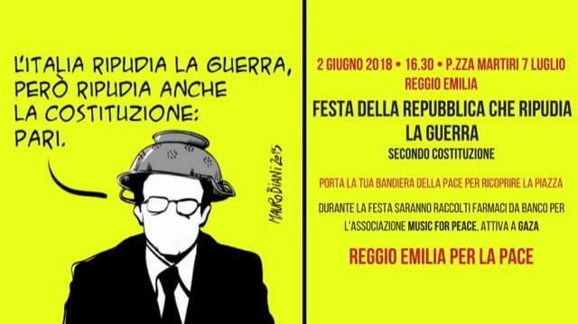 La Festa della Repubblica che ripudia la guerra: in piazza a Reggio Emilia