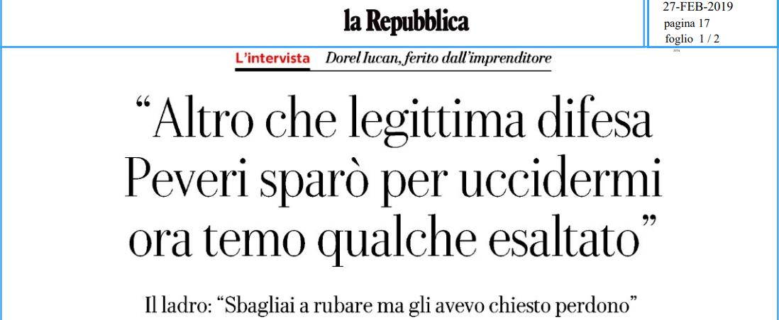 """Salvini, ascolti la voce di Dorel sul caso Peveri: """"Non è legittima difesa se metti una persona in ginocchio"""""""