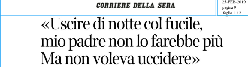 Salvini la smetta di strumentalizzare: anche la figlia di Peveri dice che è un errore uscire con il fucile di notte