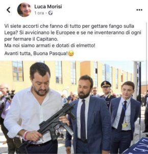 Com'era la storia che Salvini e la Lega non incitano al possesso di armi?
