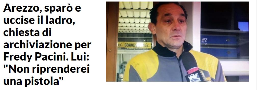 """""""Non riprenderei la pistola, è come vivere nel terrore"""", anche Pacini conferma i danni della corsa alle armi"""